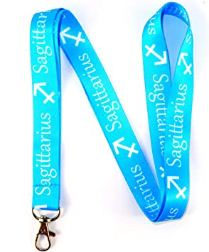 Amazon Com Rocknerdy Zodiac Sign Sagittarius Lanyard Keychain W Clasp Horoscope Astrology Signs Id Lanyard For Keys Badges Astrology Sagittarius Id Holder Keychain For Women Men Kids Gift 1 Lanyard Office Products