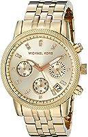 Michael Kors Women's MK5676 Ritz Gold-Tone Stainless Steel Chronograph Watch