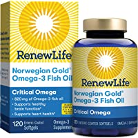 Norwegian Gold - Critical Omega - Omega 3 fish oil supplement - burpless - brain...