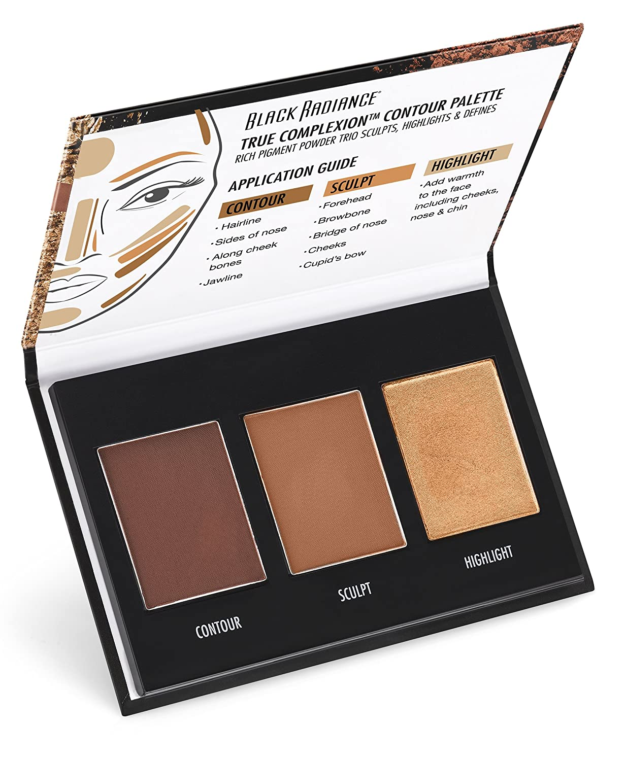 Amazon Com Black Radiance True Complexion Contour Palette Medium