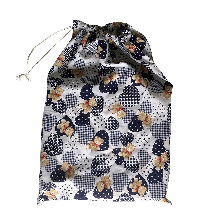 Bolsa para guarder/ía 46/x 60/cm para la ropa Orsetti e Cuoricini Blu