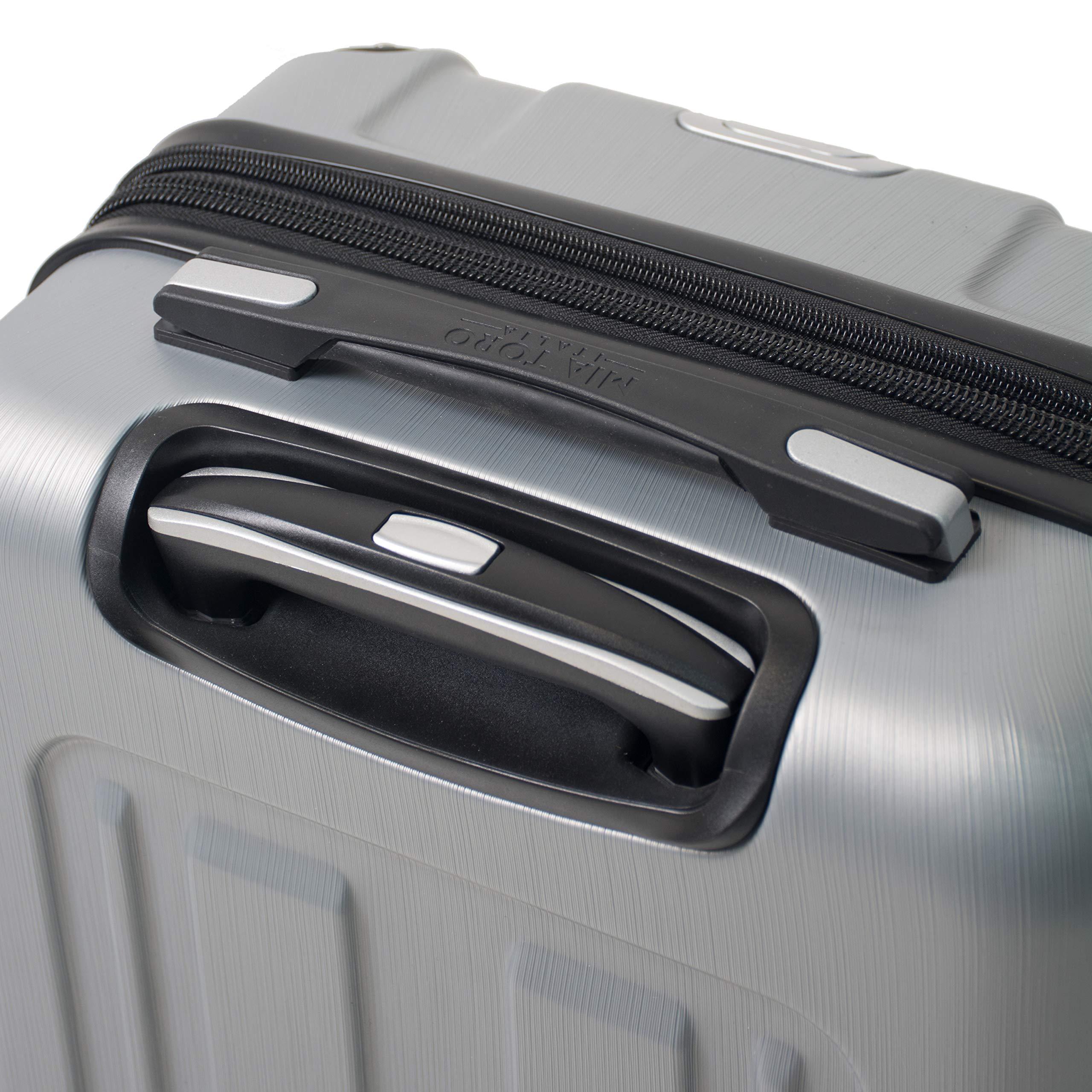 Mia Toro Italy Accera Hardside Spinner Carry-on,Aluminum by Mia Toro (Image #6)