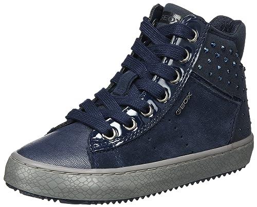 Geox J Kalispera I, Zapatillas Altas para Niñas, Azul (Navy), 27 EU
