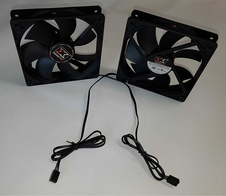 Inclus 4 vis Cas de Ventilateur Premium Bundle PC24 Shop /& Service Xigmatek Cas de Ventilateur de 120mm Noir Case Fan