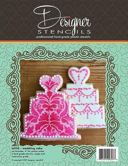 Amazon Wedding Cake Cookie Cutter And Stencil Set By Designer