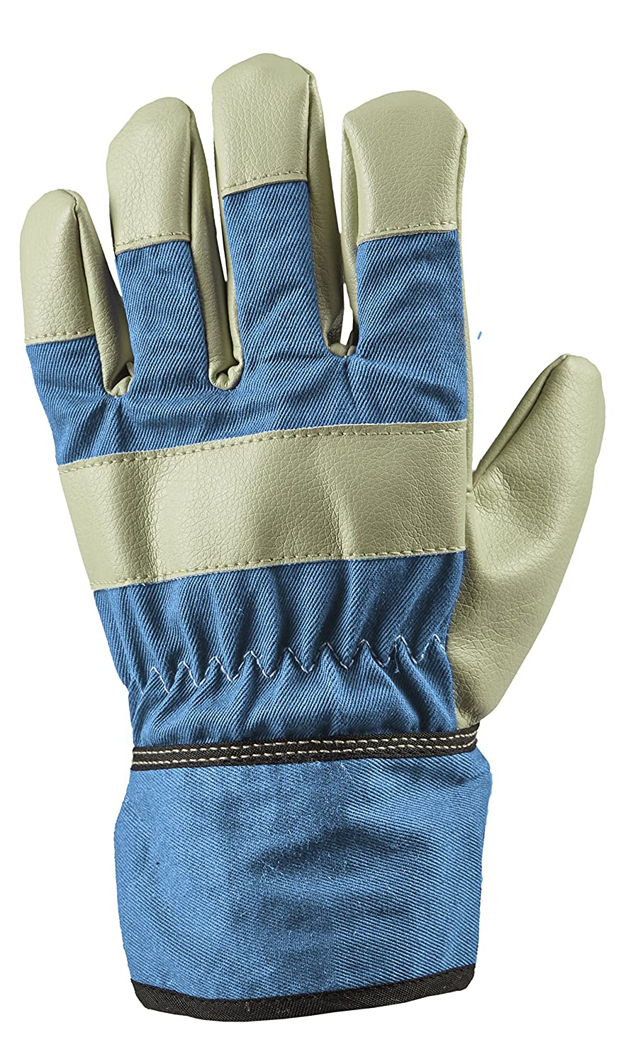 Childrens/Kids Blue Rigger Helper Gardening Gloves With Tough Grip, One Size 8-12 Years Briers