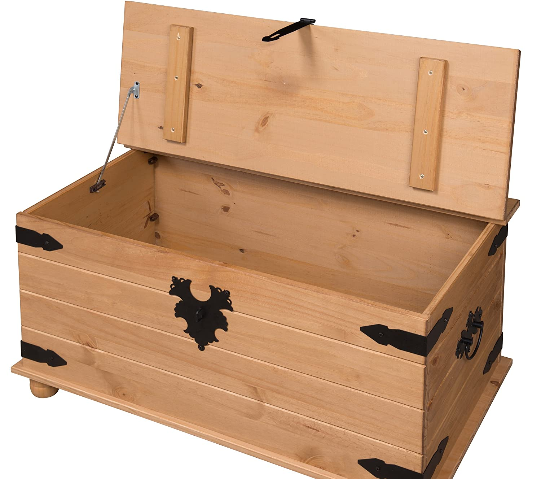 Furniture Box Mercers Furniture Corona Blanket Box Pine Amazoncouk Kitchen