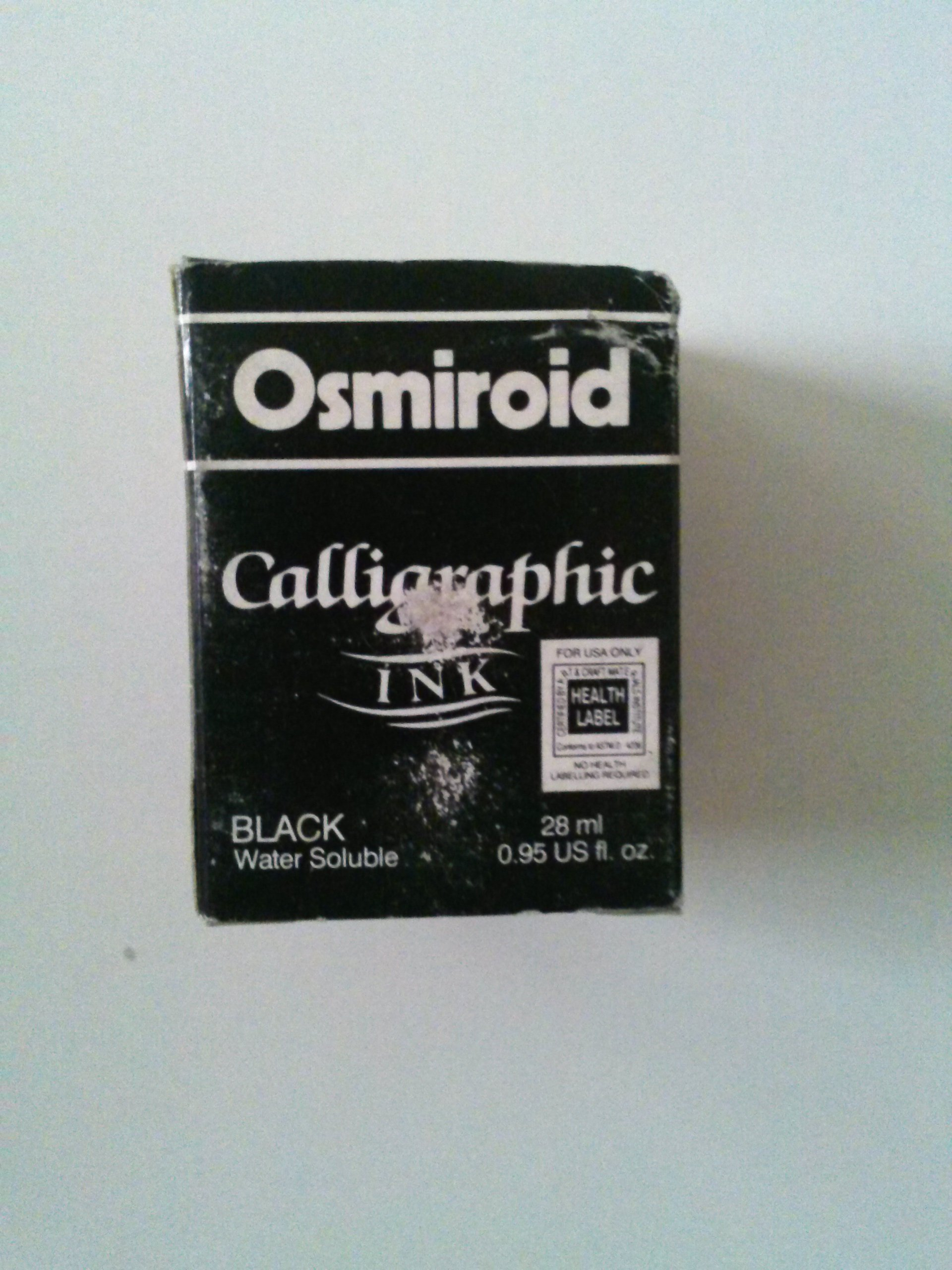 Osmiroid 19671 Calligraphy Ink Black Water Soluble 28 ml 0.95 fl. oz (Vintage Product)