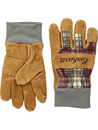 Carhartt womens Suede Work Glove With Knit Cuff Cold Weather Gloves