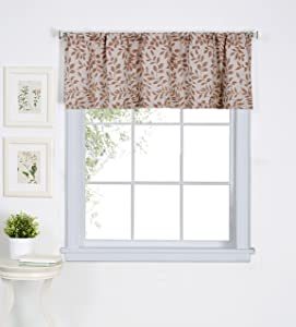 """Elrene Home Fashions 26865775617 Window Valance, 60"""" x 15"""" (1, Spice Red"""