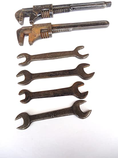 Selection Of 6 Vintage Spanners. Vehicle Parts & Accessories Vintage Tools