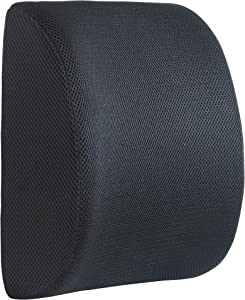 DG SPORTS Lumbar Support Back Cushion with 3D Ventilated Mesh Back Support Cushion - Reduces Lower Back Pain,Good for ffice Chair, Car Seat, Provides Lumbar Support - Fits Most Chairs (Black)