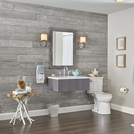 Rustic Wall Planks by DPI, Pewter Grey (light)