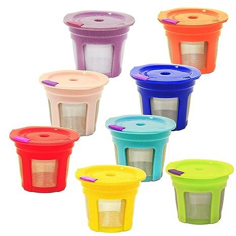 Amazon.com: Pack de 8 vasos reutilizables K para Keurig 2.0 ...