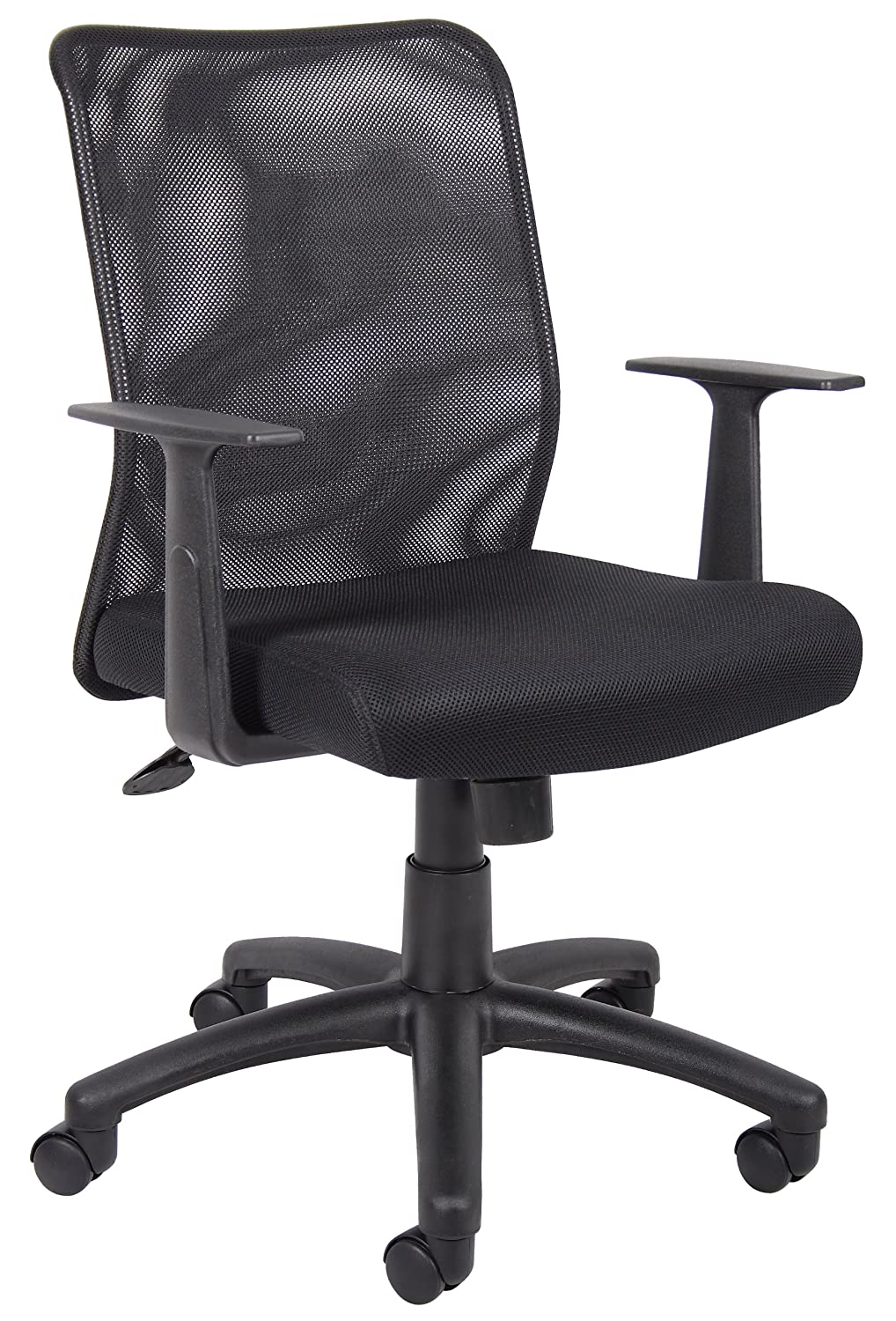 Boss Budget Mesh Task Chair W/T-Arms Boss Office Products B6106 1135