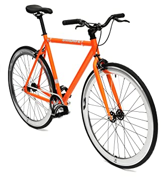 Create Bike Bicicleta de Ciudad Negro/Naranja, Rubber Schwarz ...