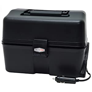 RoadPro 12-Volt Portable Stove, Black