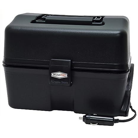 amazon com roadpro 12 volt portable stove black automotive