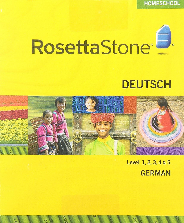 Amazon.com: Rosetta Stone Homeschool German Level 1 including Audio  Companion: Software