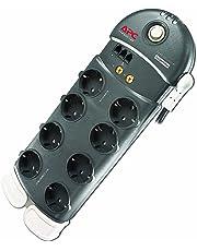 APC Surge Arrest Performance - PL8VT3-DE - Regleta con protección contra subidas y picos de tensión compatible con PLC (Incluye protección línea telefónica y coaxial TV-Video)