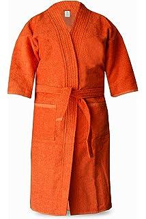 ... Hood in  best service 7e8ec d9110 Loomkart Very Fine Export Quality  Bath Robes in Orange in Avioni Zip ... b8625725b