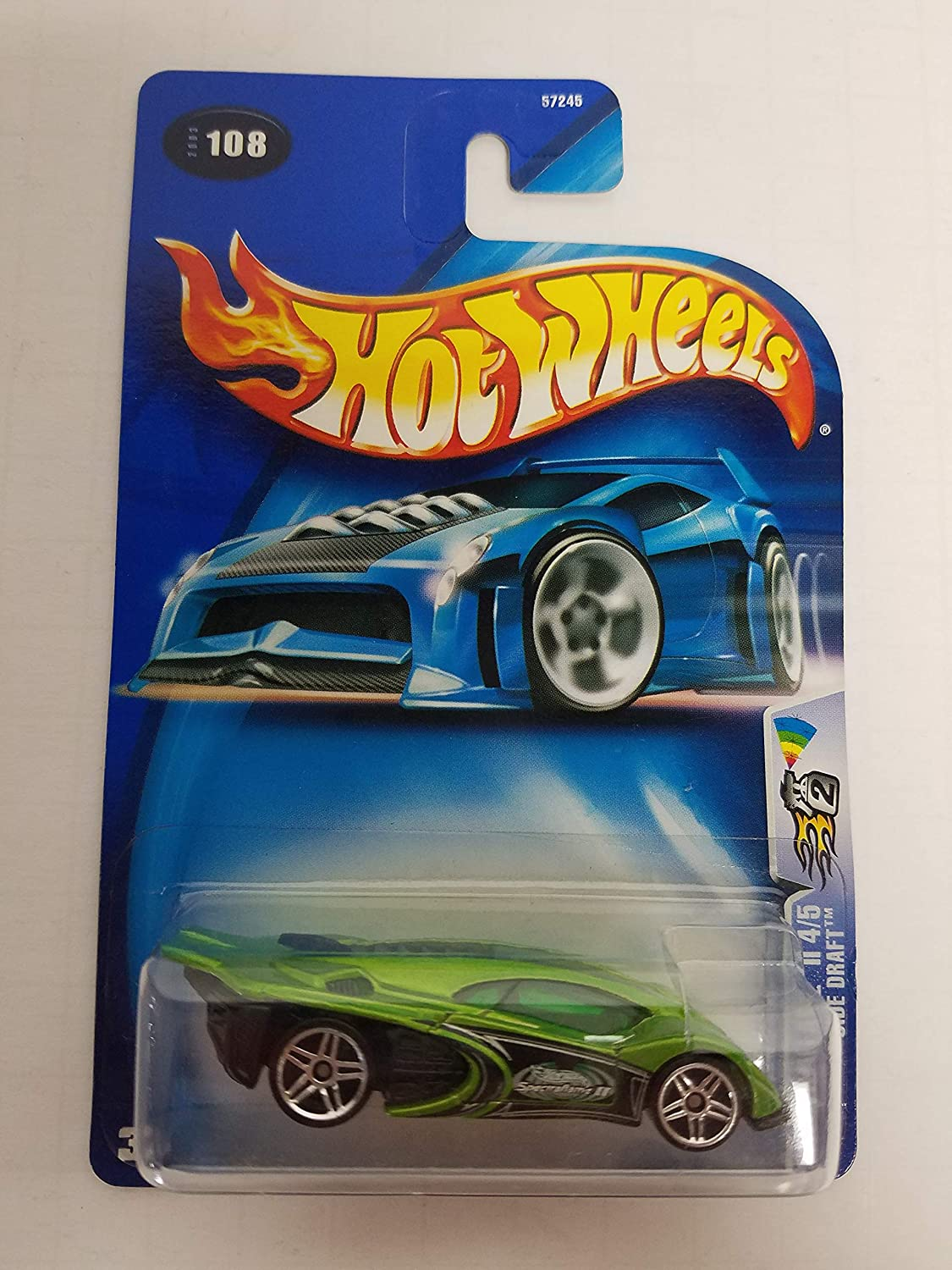 Side Draft Spectraflame II 4/5 2003 Hot Wheels No. 108