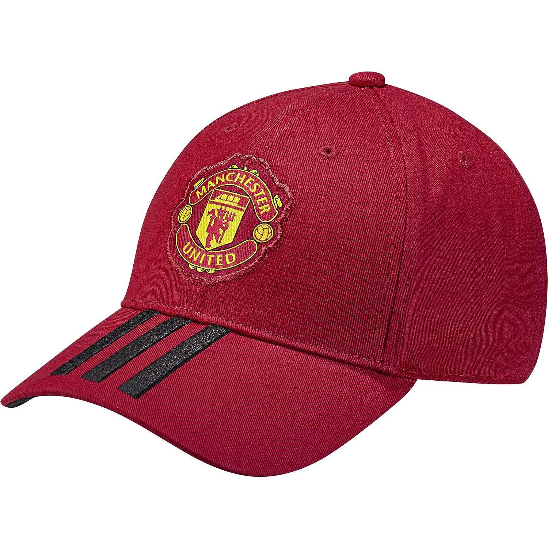 adidas MUFC 3S Cap - Gorra 3ª equipación Manchester United FC, Unisex Infantil, Rojo(ROJREA/Negro): Amazon.es: Deportes y aire libre