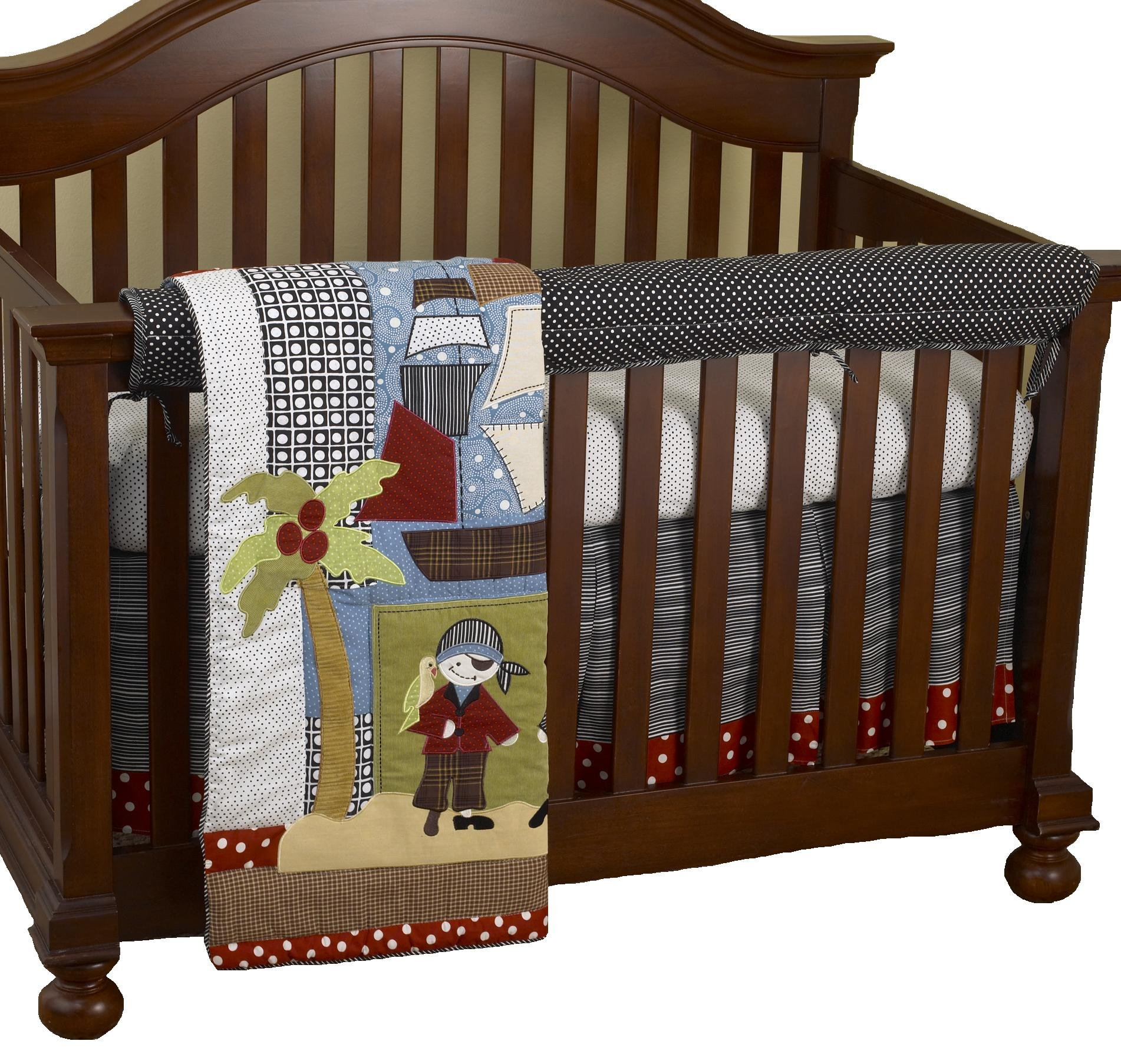Cotton Tale Designs Front Crib Rail Cover Up Set, Pirates Cove by Cotton Tale Designs