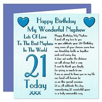Nephew 21st Happy Birthday Card