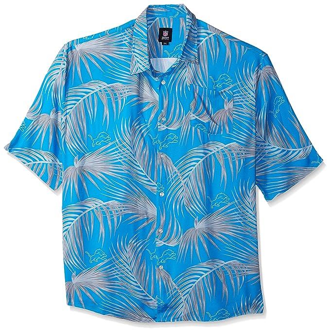 big sale 7460d 106bb Detroit Lions NFL Mens Hawaiian Button Up Shirt - XL