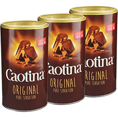 Caotina original, Cacao en Polvo de Chocolate Suizo, Bebida de Chocolate Caliente, Pack Triple, 3 x 500 g