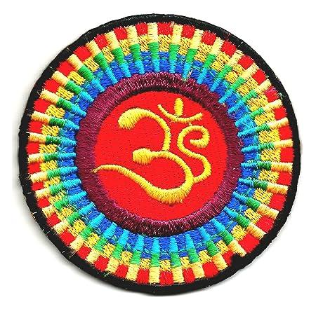 Colorful Om símbolo Yoga inspiración Hatha Yoga espiritual ...