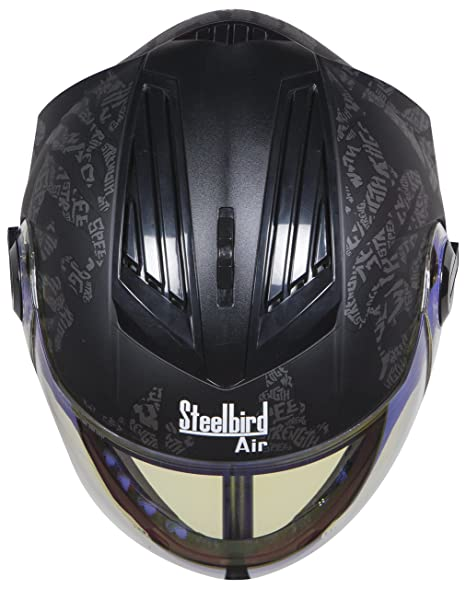 4feebd8a Steelbird Air SBA-2 Strength Night Vision Full Face Graphics Helmet -  Single Night Vision