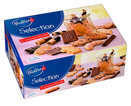 BAHLSEN Selection 8 x 250 g Gebäckmischung, vielfältige Großpackung aus Waffeln und Keksen, mit und ohne Schokolade, knusprige Variation von Kaffeegebäck: Amazon.de: Lebensmittel & Getränke