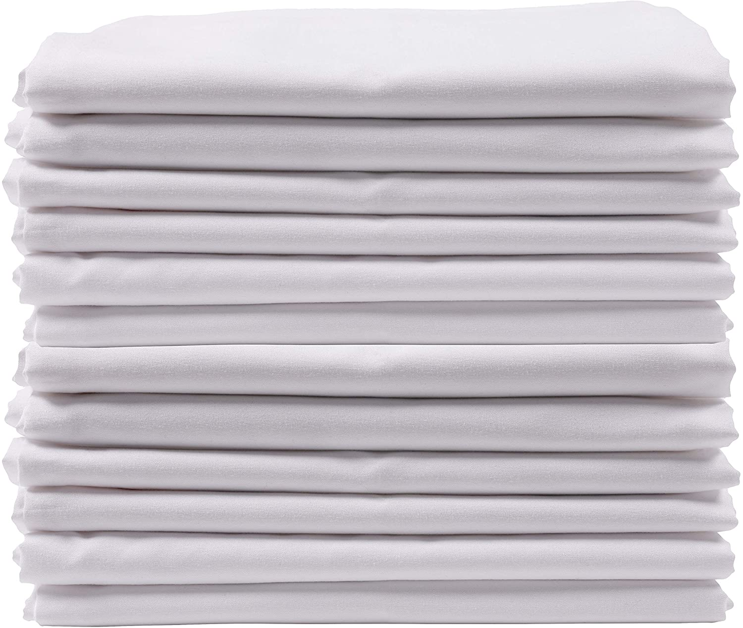 KAF Home Brushed Microfiber Pillow Cases Bulk Pack   Set of 12 Standard Queen Sized Pillow Cases   White   Perfect to Control Allergies and Insure Sound, Luxurious Sleep