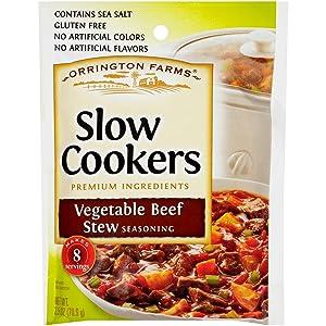 Orrington Farms Vegetable Beef Stew Slow Cookers Seasoning, 2.5 oz Packet (Pack of 12)