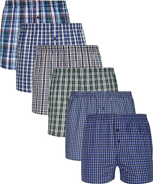 Mctam® - Calzoncillos Tipo bóxer para Hombre, 6/12 Unidades, 100% algodón, línea básica 6X Mix 3 L: Amazon.es: Ropa y accesorios