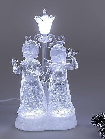Formano Engel Paar Mit Laterne Dekofigur Weihnachtsdeko Mit Licht