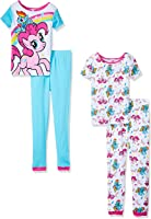 My Little Pony Girls Pinkie Pie 4pc Pajama Pant Set