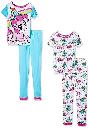 2c5077d41 Amazon.com  My Little Pony Girls  Pinkie Pie 4pc Pajama Pant Set ...