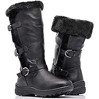 Enzo Romeo Bianca Womrns Winter Snow Fleece Lining Calf Riding Knee High Boots Flat Heels Cozy Shoes