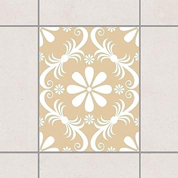 Fliesen Aufkleber U2013 Floral Light Braun 25 Cm X 20 Cm, Set Größe: 20