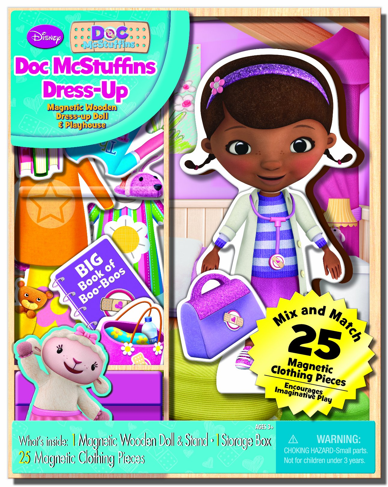 Bendon Disney Doc McStuffins Wooden Magnetic Playset, 25-Piece by Bendon