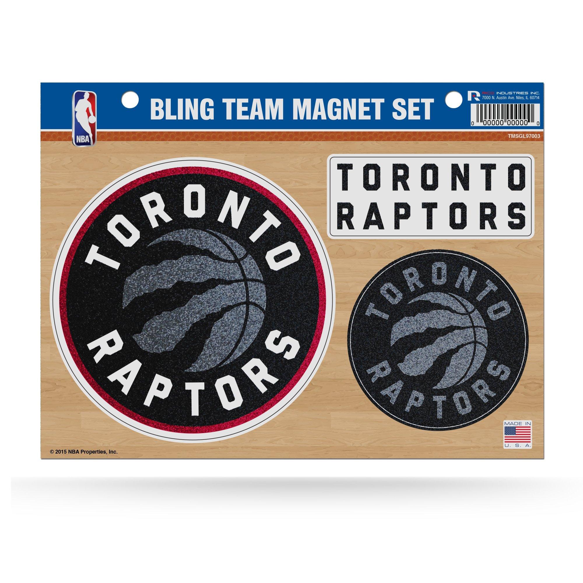 NBA Toronto Raptors Bling Team Magnet Set, 8.5'' x 11'', Red