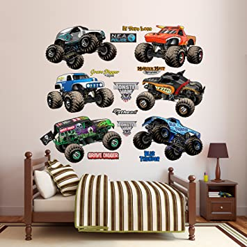 Fathead monster jam cartoon trucks collection real decals