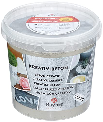 Rayher Creative Cement for concrete crafts, 2 5 Kg