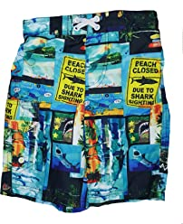 792ae48f490c Ocean Pacific Boys Shark Blocks Swim Short