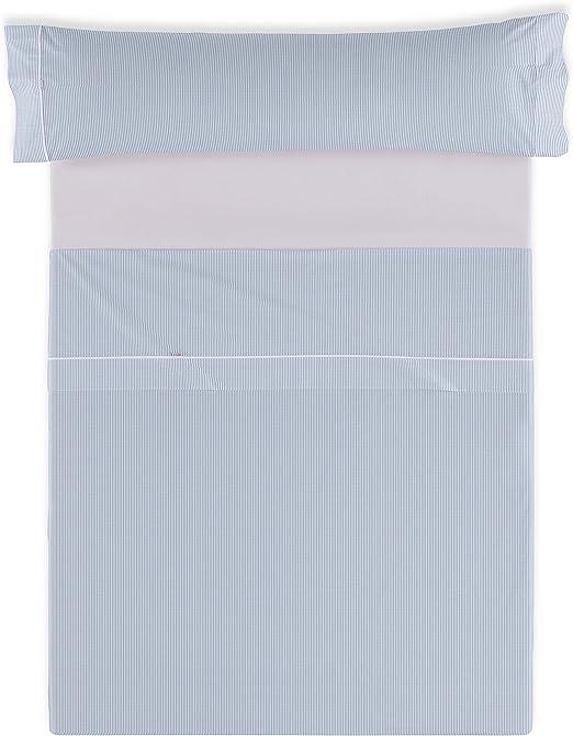ESTELIA - Juego de sábanas Greta Color Azul - Cama de 90 (3 Piezas ...