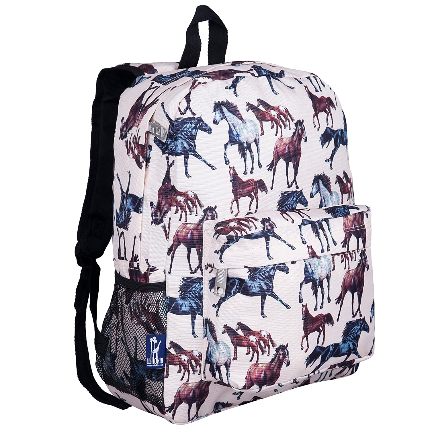 Horse Dreams One Size Backpack by Wildkin 16Inch Moisture Resistant with Adjustable, Padded Straps, Ages 615 Years