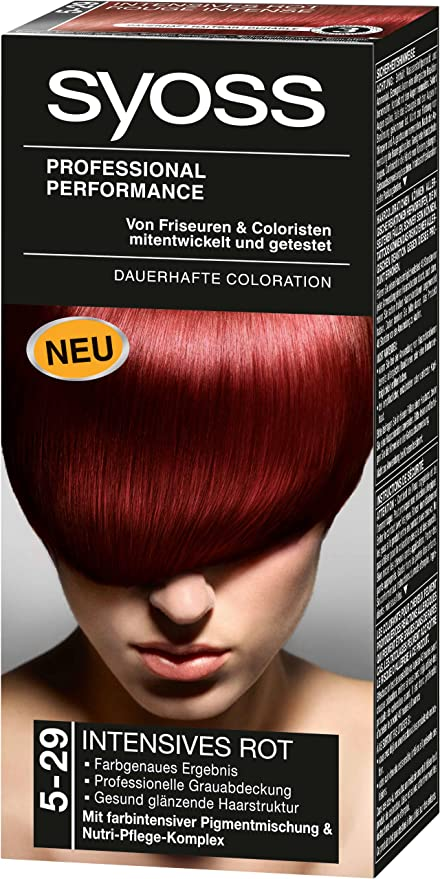Syoss 5-29 Hair Dye Intense Red Level 3 by Syoss